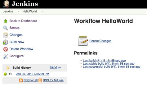 groovy workflow bernd s hello world with jenkins workflow engine