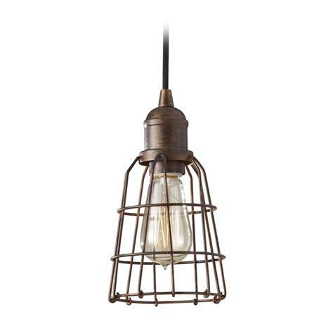 pendant light shade industrial vintage mini pendant light with cage shade p1246prz destination lighting