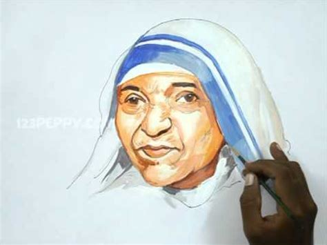 Mother Teresa Easy Biography | how to draw mother teresa youtube