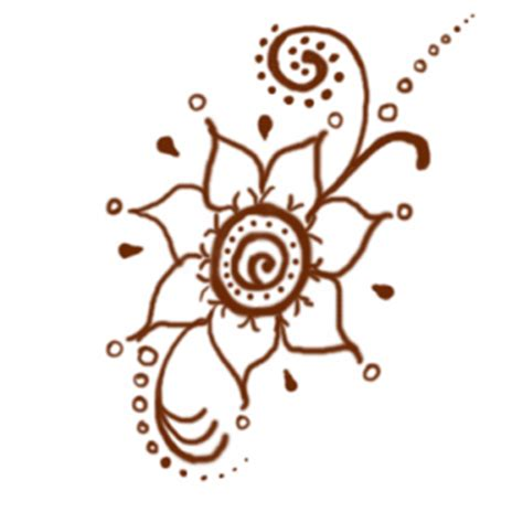 henna tattoo designs free printable printable brown flower henna