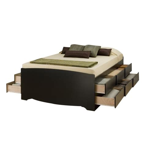queen platform bed with storage drawers tall queen platform storage bed with 12 drawers bbq 6212 k