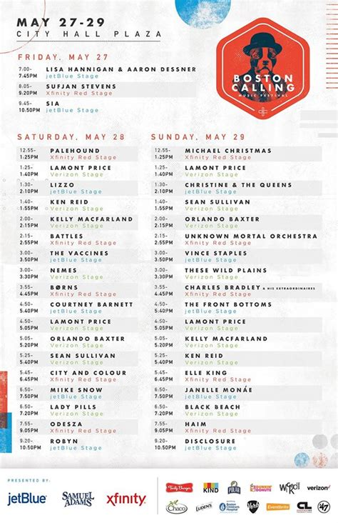 heres boston callings spring 2016 lineup here s the layout for this weekend s boston calling and