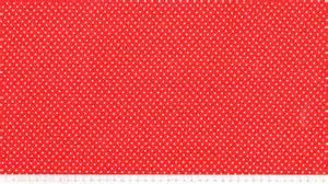 coton petits pois blancs sur fond rouge
