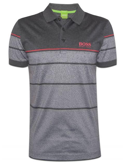 hugo boss pattern t shirt hugo boss men s paddy pro 2 boss green cotton polo shirt t