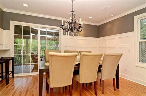 Pictures Of Wainscoting In Dining Rooms by Formal Dining Room Grey Gray And White Wainscot