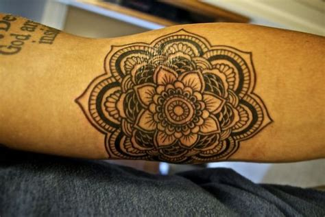 geometric tattoo white black and white geometric lotus tattoo tattoos pinterest