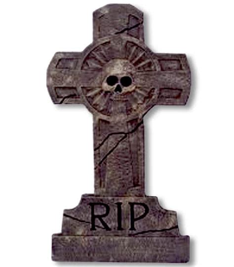 tombstone cross skull rip tombstone decoration
