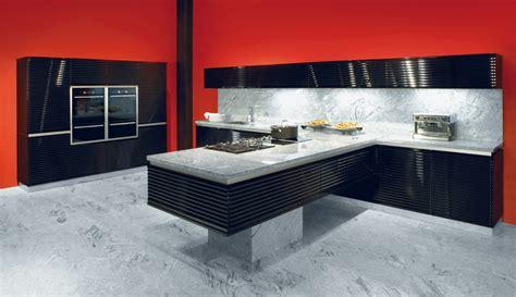 cuisine équipée avec ilot 1397 cuisine noir laque avec ilot