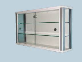 Display Cabinets On White Wall Mounted Glass Display Cabinet For Shops