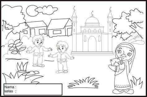 gambar mewarna islamik mazuein muzafar