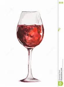 Relaxing Color Watercolor Wine Glass Stock Vector Image 75090736