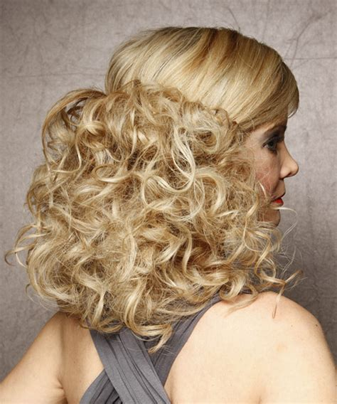 hairstyles curly half up half up long curly formal half up hairstyle light blonde