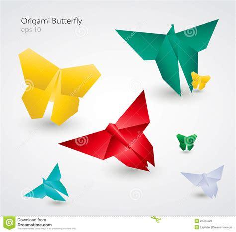 Origami How To Do - borboletas de origami do vetor eps10 imagens de stock