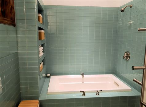 Glass subway tile in bathrooms amp showers subway tile outlet