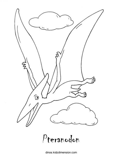 pteranodon dinosaur coloring pages
