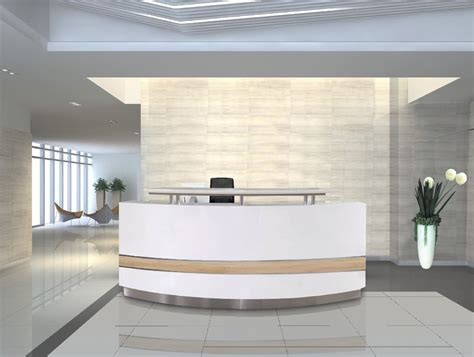 Hotel Front Desk Pay Per Hour by Modern White Curved Reception Desk Front Desk For Sale