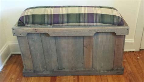pallet storage bench pallet wood storage bench made by jcornforth diy pinterest