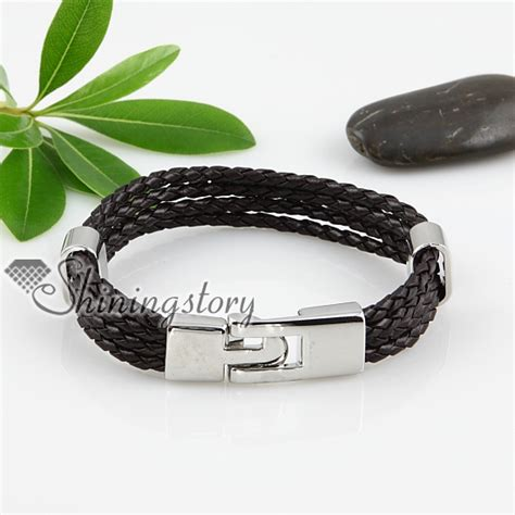 Layered Woven Bracelet pu leather four layer woven bracelets unisex wholesale