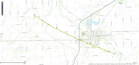 pontiac il map june 22 2016 tornado event