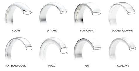 wedding rings profile depth and width explained weddingplanner co uk