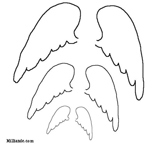 wings template outline of wing tattoos wings