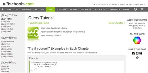 jquery tutorial in w3schools 12 best resources to learn jquery
