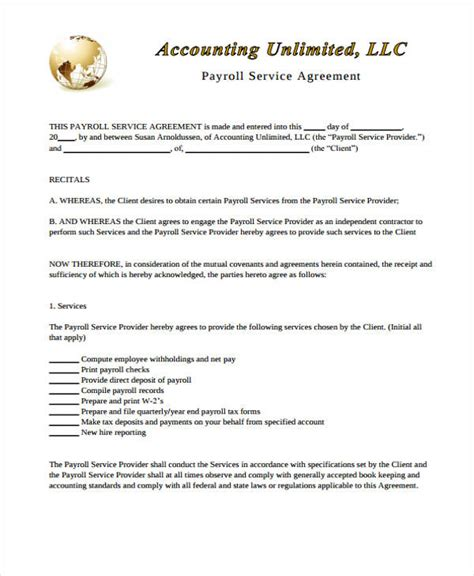 contract for accounting services template 11 service contract templates free sle exle