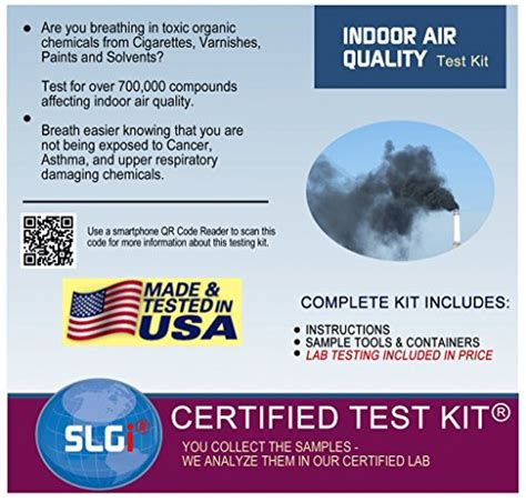 indoor air quality home test kit includes all materials