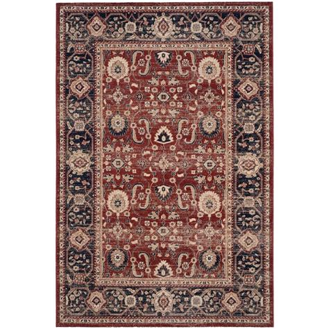 6 ft rugs safavieh artisan rust navy 4 ft x 6 ft area rug atn322r 4 the home depot