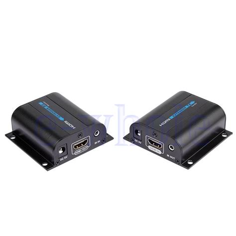Original Hdmi Extender Bafo Support Up To 60m Untuk Cat5 Cat6 1 hdmi ethernet network extender single rj45 cat6 6a 7 cable 1080p 60m ir ws ebay