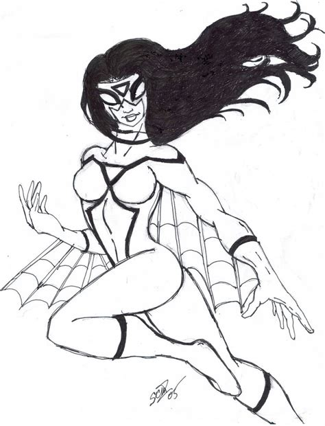 amazing spider woman superhero printable coloring pages