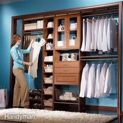 Low Profile Bookcase Closet Organizers Storage The Family Handyman