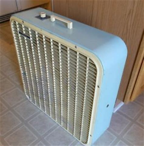metal blade box fan vintage windsor lakewood p 21 turquoise window box fan