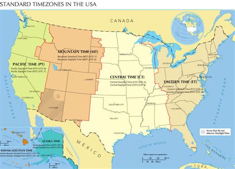 map of time zones in united states united states map