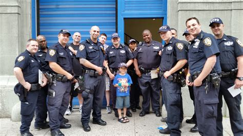 Nypd Officers by Boy On Mission To Deliver Cards To All