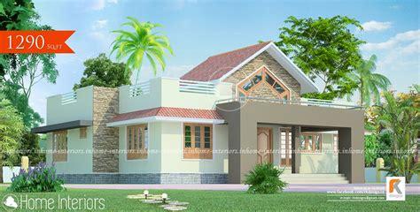 1290 sq ft contemporary home kerala home design 1290 square feet single floor contemporary home design