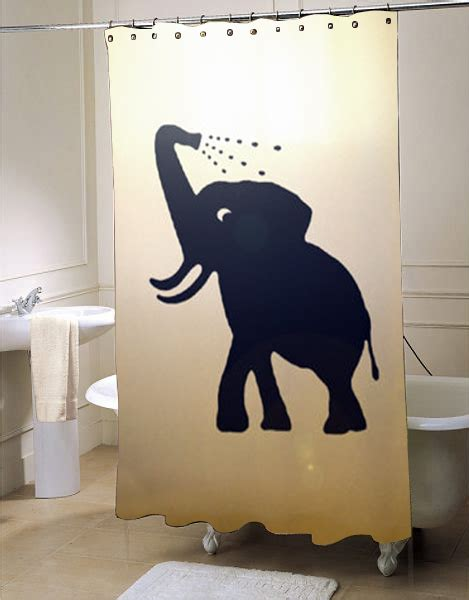 Baby Bathroom Shower Curtains Bathing Baby Elephant Shower Curtain Myshowercurtains