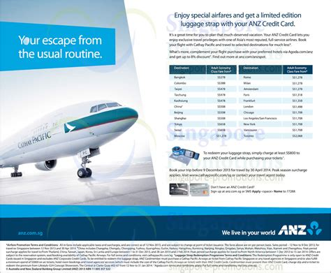 Cathay Pacific Gift Card - cathay pacific 13 nov 2013 187 cathay pacific promo air fares for anz cardmembers 14