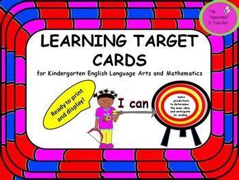 printable learning targets 17 best images about kindergarten on pinterest pocket