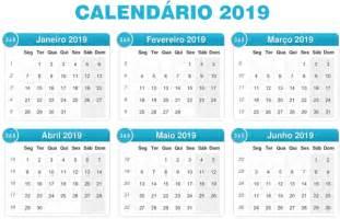 Calendario 2018 Feriados Nacionais Calend 225 2019 Feriados 2019 Calend 225 2019