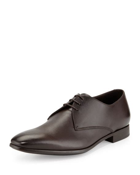 giorgio armani leather lace up dress shoes brown