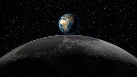 earth wallpaper changing time realistic animation of planet earth rising over the moon