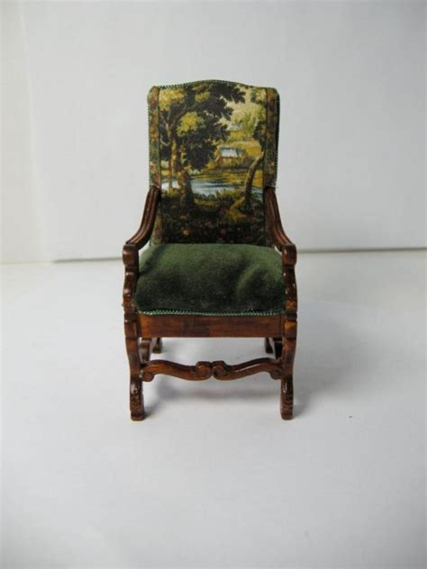 Custom Upholstered Furniture Dollhouse Custom Upholstered Furniture Tudor Style Chair
