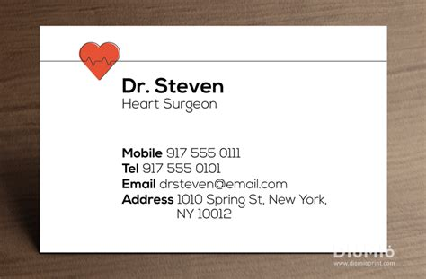 Business Card Template Doctor by Doctor Business Cards Diomioprint
