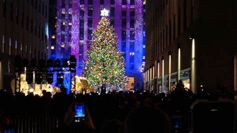The 2013 Rockefeller Center Christmas Tree Lighting Lighting Of Tree Nyc 2014