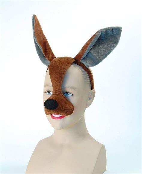 kangaroo mask with sound animal australian fancy dress