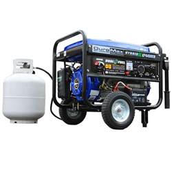 duromax 4 400 watt hybrid dual fuel propane gas powered
