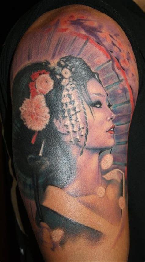 nice geisha portrait by laura juan tattoo pinterest