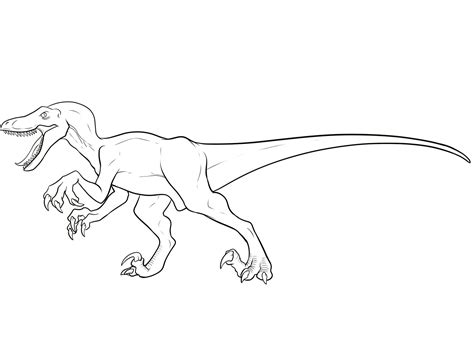 Coloring Page Velociraptor | velociraptor coloring pages best coloring pages for kids