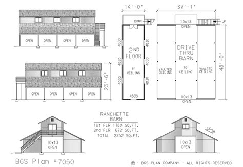 american barn house floor plans barn garage shop plans engineered with complete